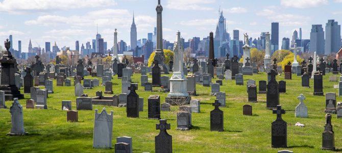 Bulk graves at cemetery